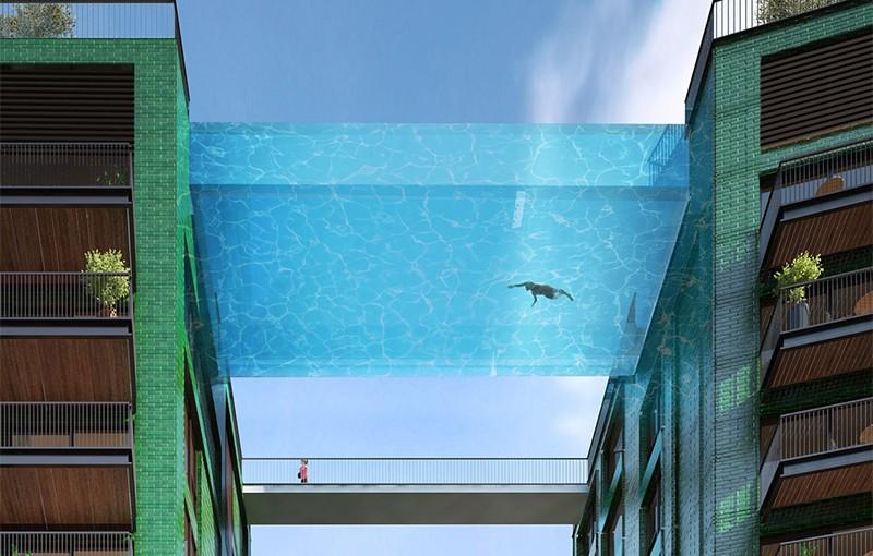 Nebeski bazen u Londonu: Pivanje na visini od 35 metara