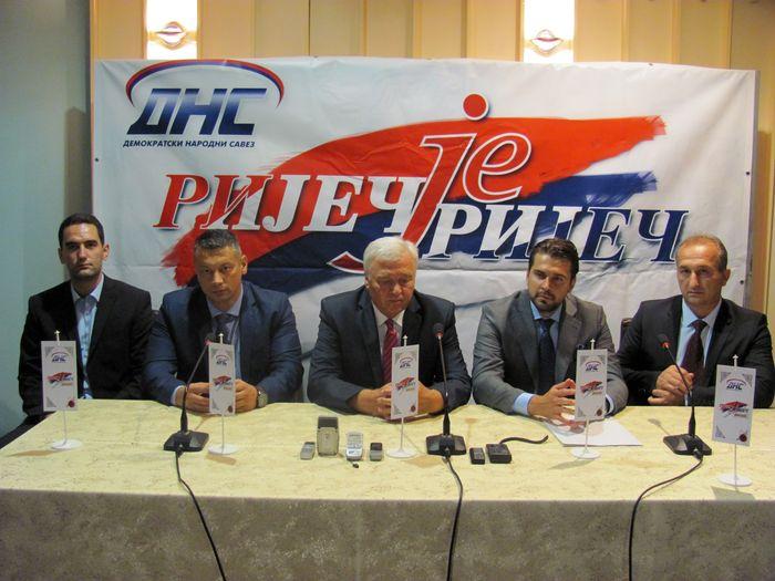 БАЊАЛУКА, 21. АВГУСТА /СРНА/ - Лидер ДНС-а Марко Павић на конференцији за новинаре у Бањалуци.