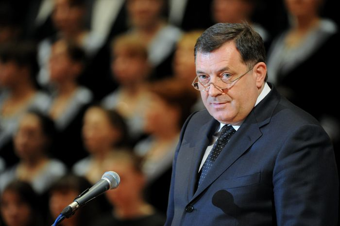 "Image: 0186919378, License: Rights managed, 2394990 03/11/2014 Milorad Dodik, President of the Republika Srpska entity of Bosnia and Herzegovina, during the 14th awards ceremony of the International Public Foundation for the Unity of Orthodox Christian Nations. The 2013 award ""For outstanding efforts to strengthen the unity of Orthodox peoples and for the approval and promotion of Christian values in society"" was given in the name of former Patriarch Alexei II., Place: Russia, Model Release: No or not aplicable, Credit line: Profimedia.com, Ria Novosti"