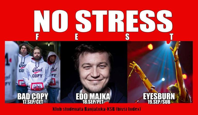 NO STRESS FEST: Bad Copy, Edo Majka i Eyesburn u KSB-u