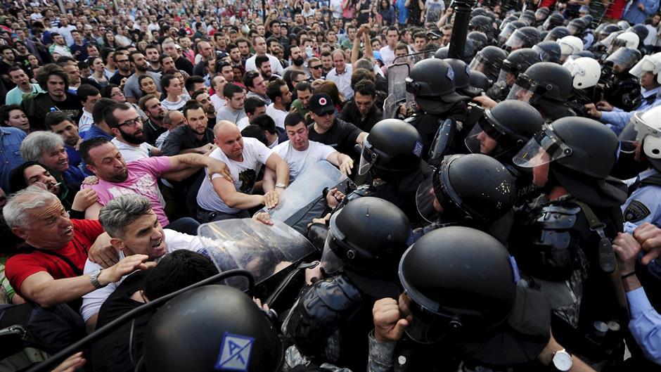 protesti makedonija