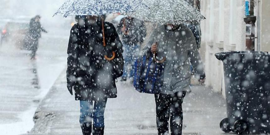 Kisa i snijeg