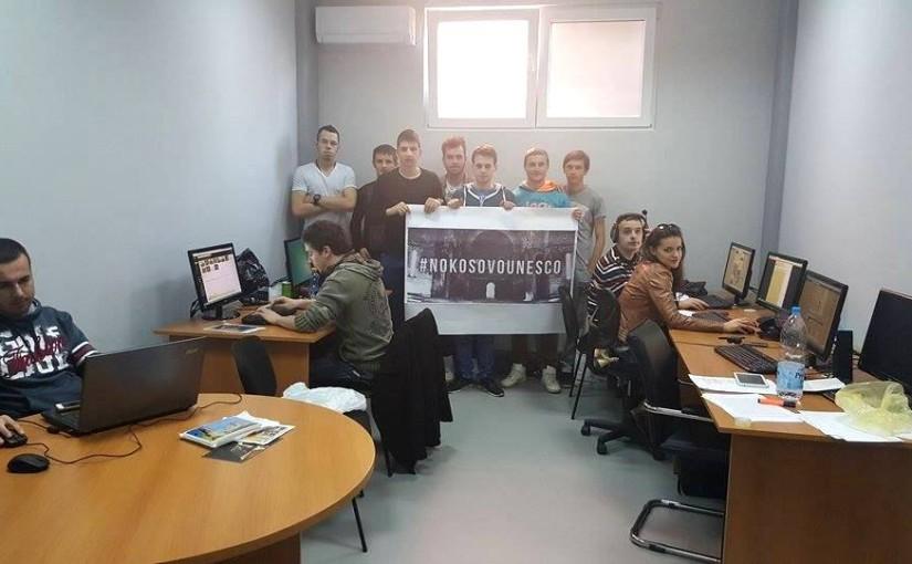 (FOTO, VIDEO) Studenti iz Banjaluke lobiraju protiv prijema Kosova u UNESKO