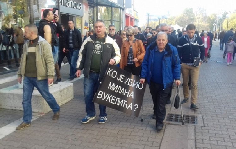 Protestna šetnja u spomen na Milana Vukelića