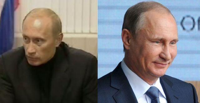 Putin nekad i sad