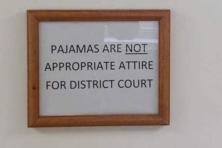 pidzama u sudu
