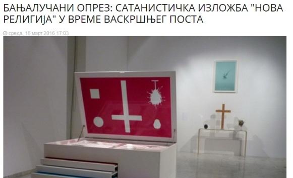 Gazeta: Banjalučani, oprez – satanistička izložba u vrijeme posta
