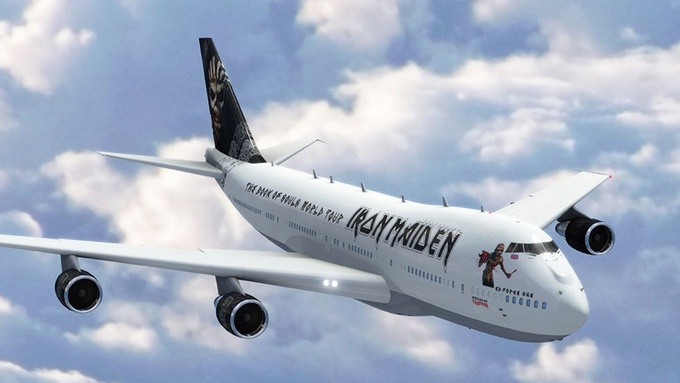 iron maiden avion