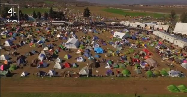 (VIDEO) Dron zabilježio život izbjeglica na granici