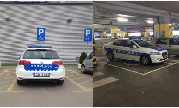 Negoduju zbog bahatog parkiranja policije