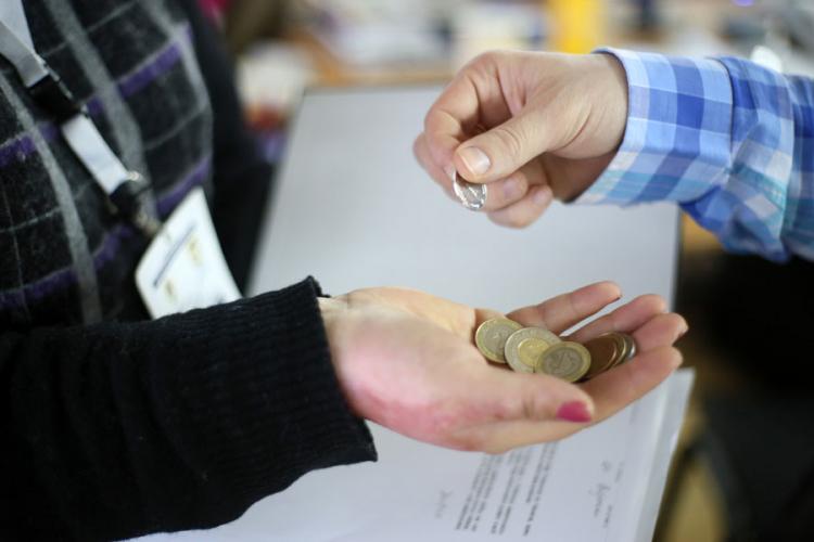 skupljanje novca