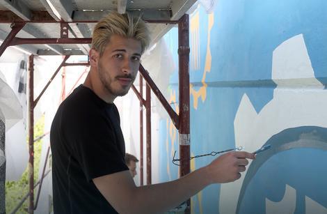 Umjetnost u kampusu novi mural u banjaluci posve en for Mural u vukovarskoj ulici