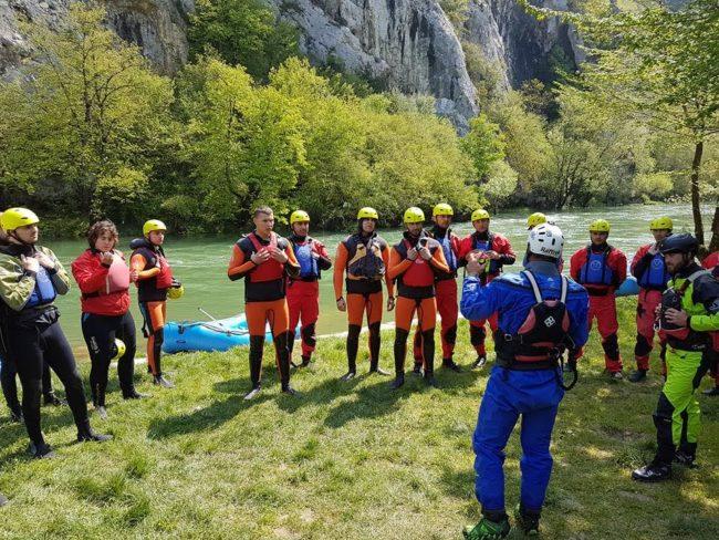 rafting obuka