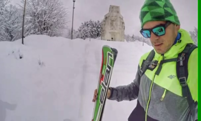 (VIDEO) Skijama se spustio niz Banj brdo