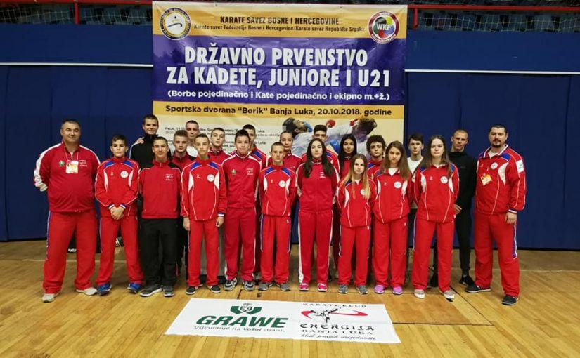 "SJAJAN USPJEH Banjalučki Karate klub ""Energija"" se okitio sa šest medalja na Prvenstvu BiH"