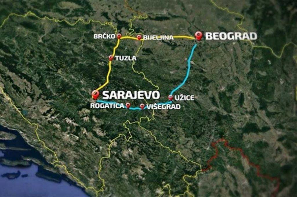 Usaglasena Trasa U Bih Mapa Autoputa Beograd Sarajevo Uskoro