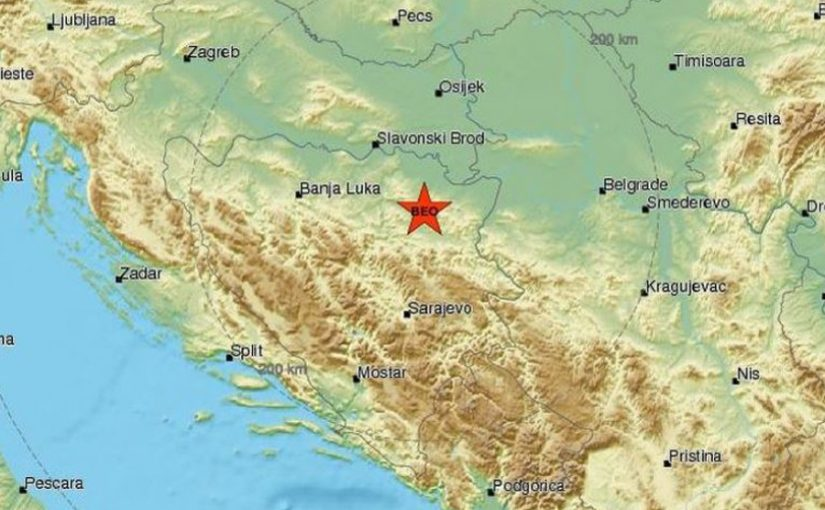 Zemljotres kod Tuzle, osjetio se i u Banjaluci