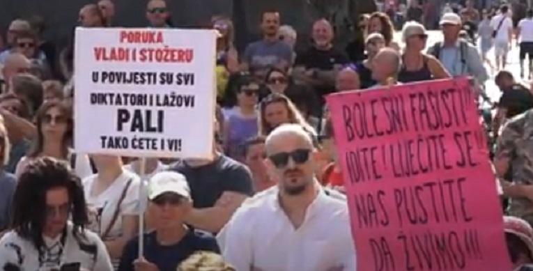VIŠE HILJADA LJUDI: Protesti protiv mjera i u Zagrebu i Podgorici